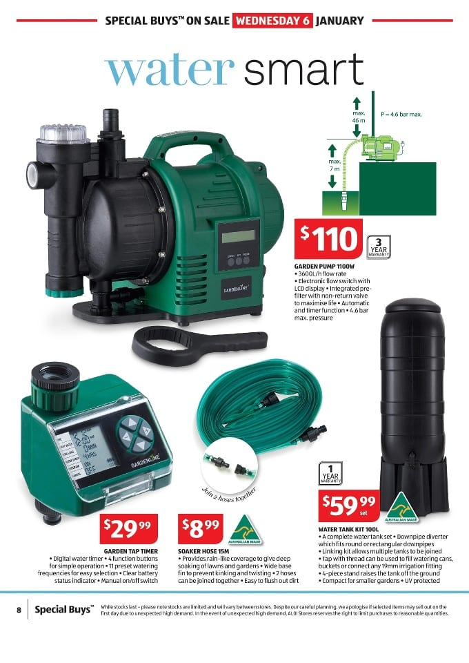 Aldi gardening specials catalogue 6 12 jan 2016 for Aldi gardening tools 2016