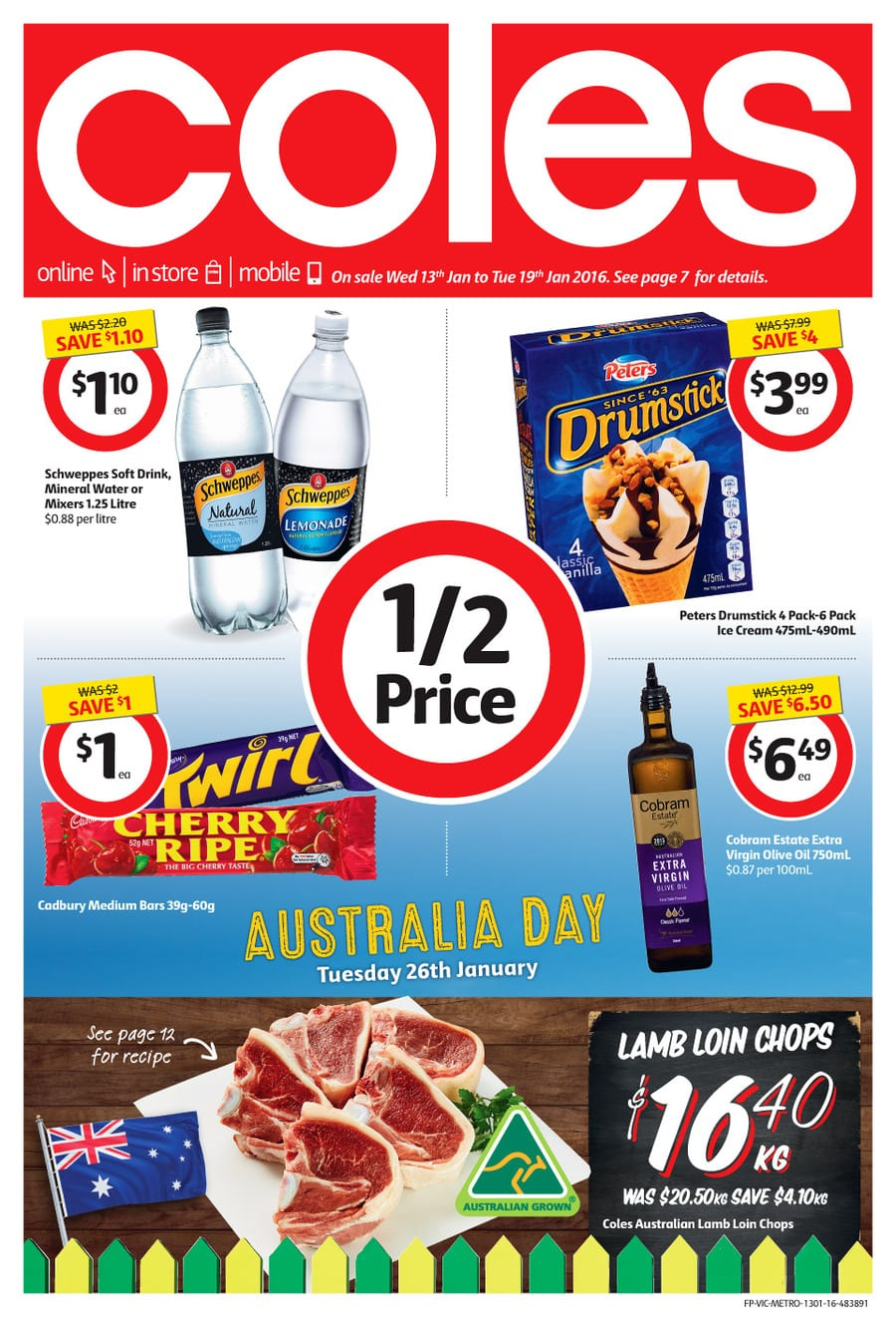 World Auto Sales >> Coles Special Sales Catalogue 13 - 19 Jan 2016