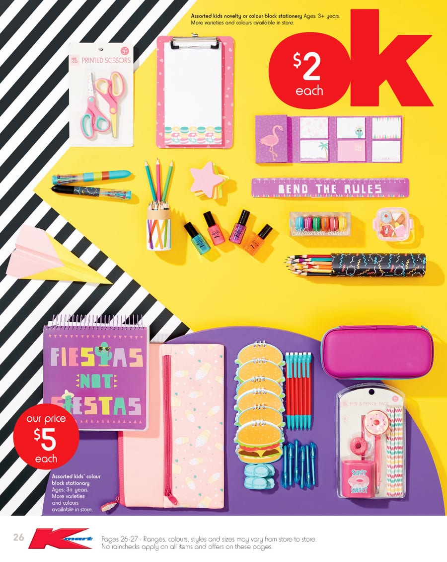 7874d14cf Kmart Stationery Needs Catalogue 15 - 27 Jan 2016
