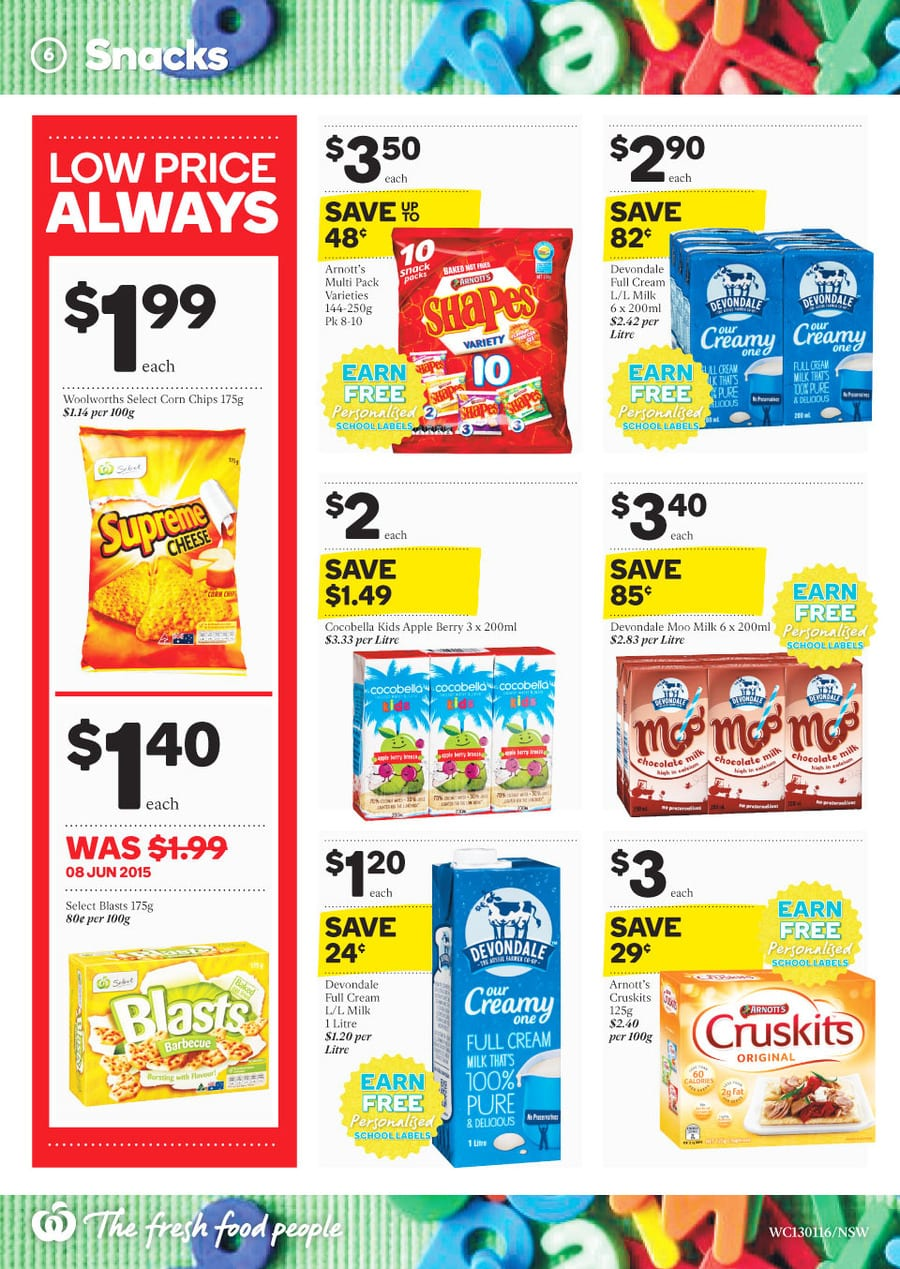 Woolworths Healthy Drinks Catalogue 13 19 Jan 2016