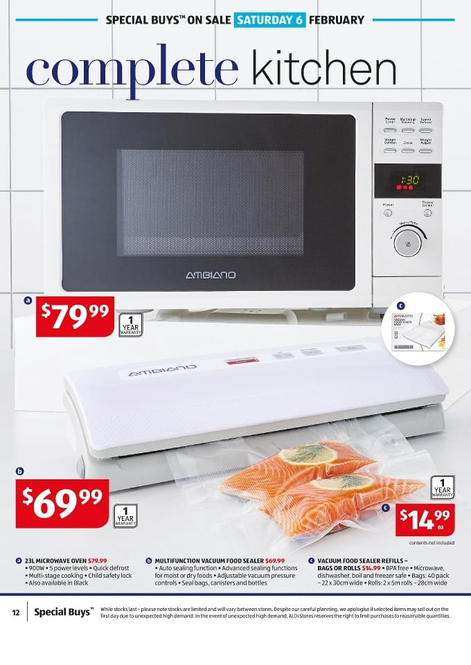 Aldi Kitchen Sale Catalogue 3 9 Feb 2016