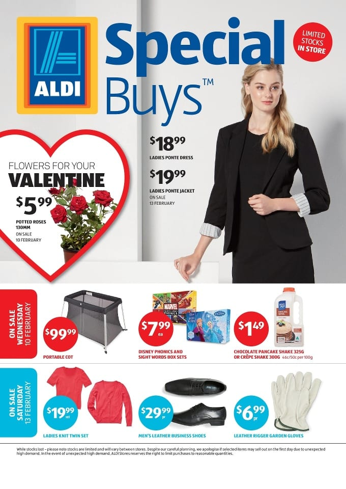 aldi valentine 39 s day specials catalogue 10 16 feb 2016. Black Bedroom Furniture Sets. Home Design Ideas