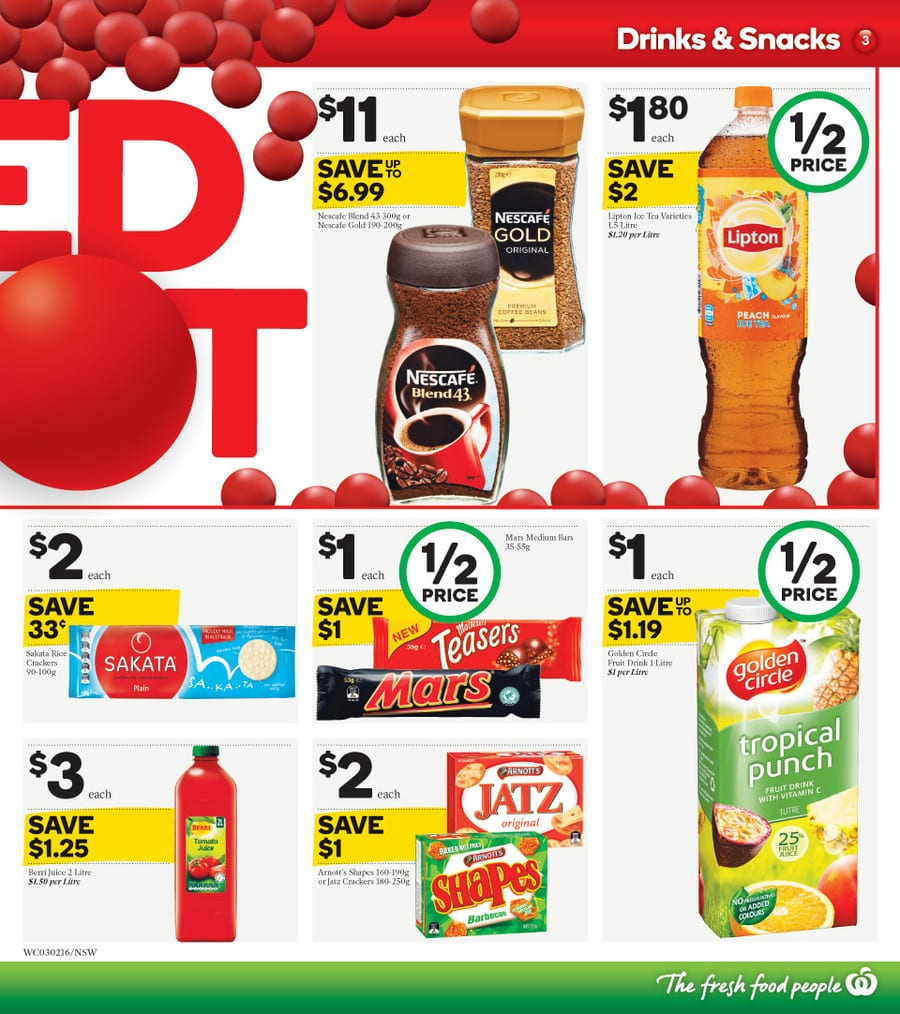 Woolworths redspot sale catalogue 3 9 feb 2016 - Catalogue 3 suisses 2016 ...