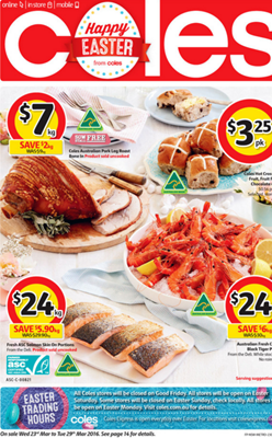 Coles catalogue happy easter 23 29 mar 2016 easter specials by coles negle Gallery