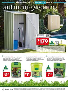 Aldi gardening catalogue 16 22 mar 2016 for Aldi gardening tools 2016