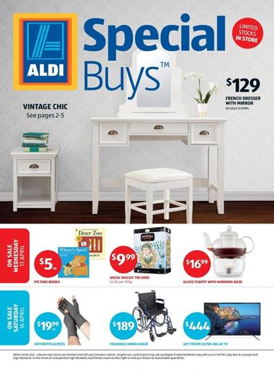 aldi catalogue special buys week 15 2016. Black Bedroom Furniture Sets. Home Design Ideas