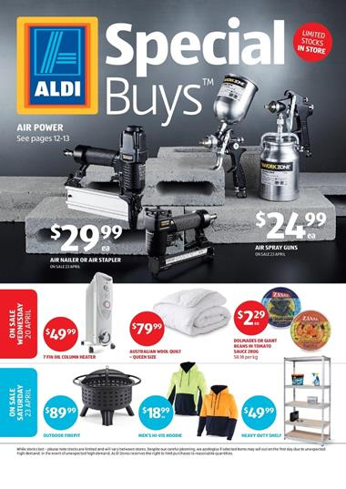 Aldi catalogue special buys week 16 2016 for Aldi gardening tools 2016