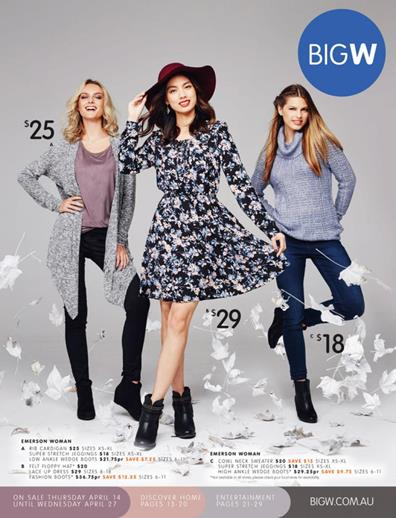 Big W Catalogue April Sale 2016 Winter Wear