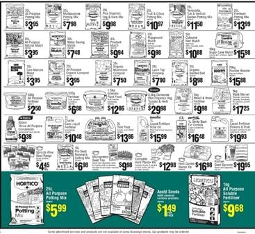 Bunnings catalogue gardening products april 2016 for Gardening tools bunnings