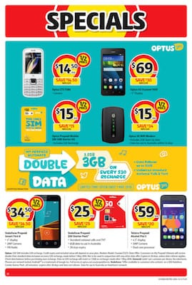 Down, down - phone plan prices are down now that the supermarkets are in the business. Coles, Woolworths and ALDI are all now offering phone services.