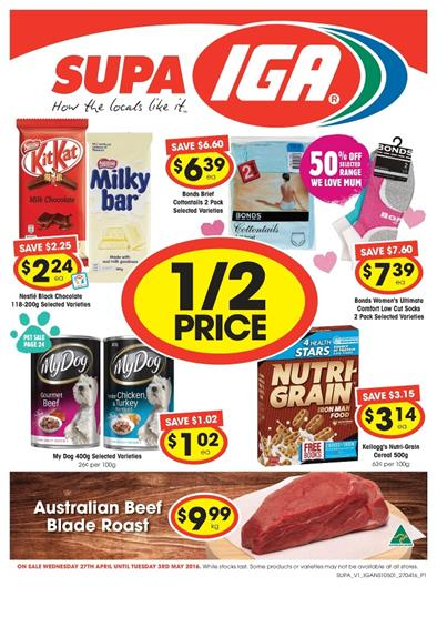 IGA Catalogue Sale 27 April - 3 May 2016