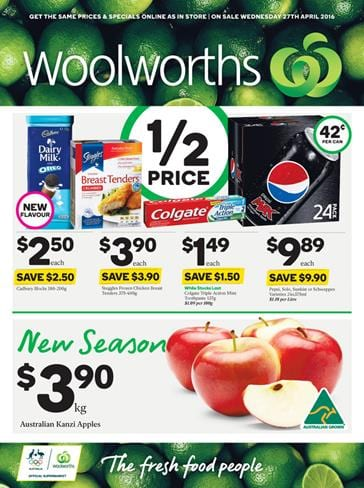 Woolworths Catalogue Specials 27 April 2016