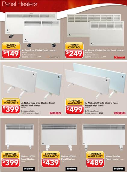 Harvey Norman Catalogue Electric Heaters May 2016