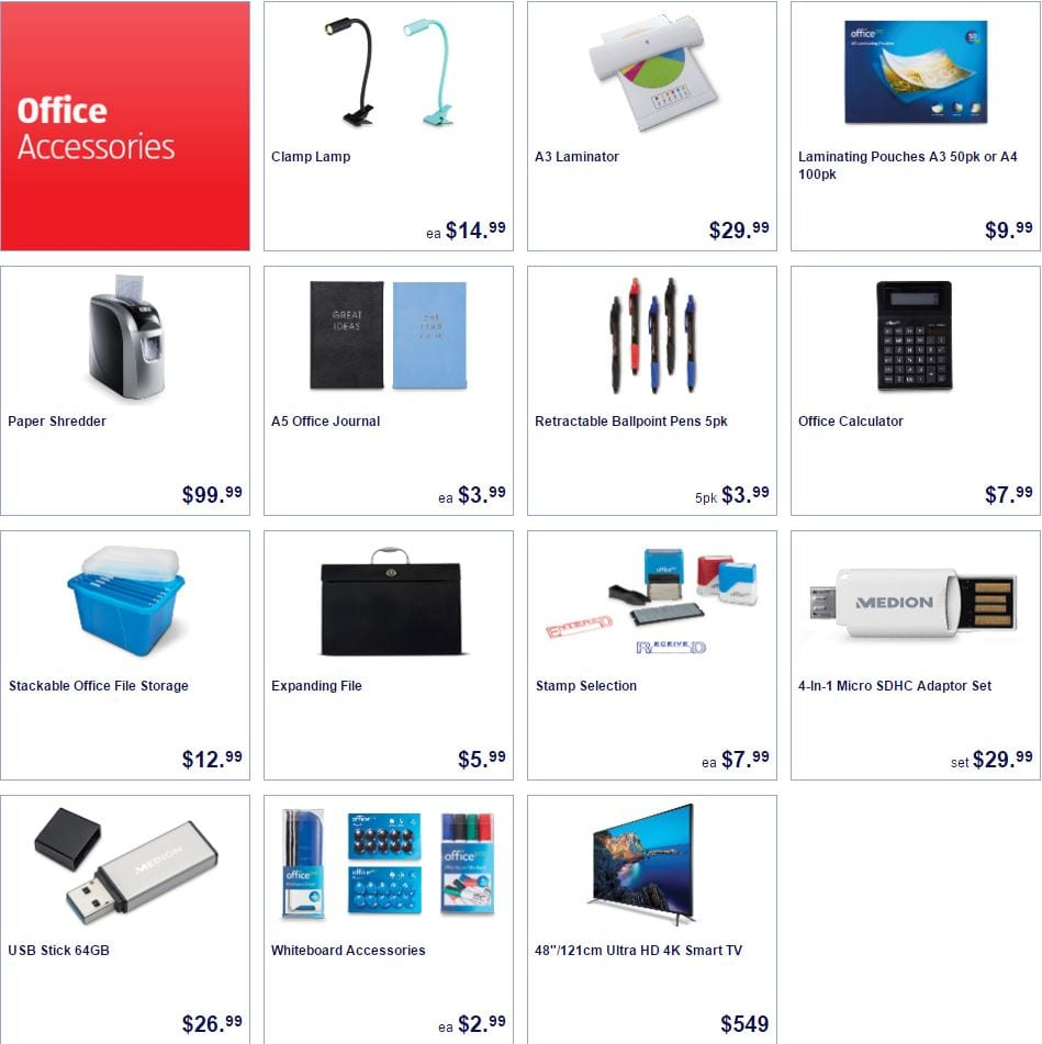 ALDI Special Buys 8 June 2016 | Office Products | Winter Clothes