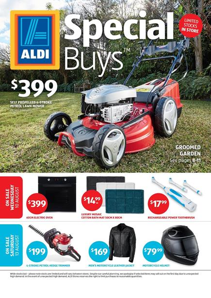 Aldi catalogue special buys week 32 2016 for Aldi gardening tools 2016