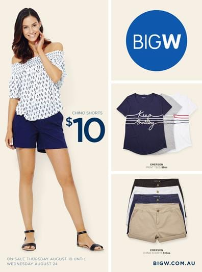 Big W Catalogue Women's Wear 18 - 24 Aug 2016