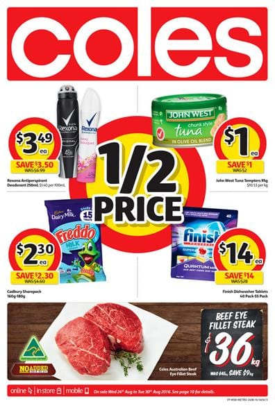 Coles Catalogue 24 Aug - 30 Aug 2016