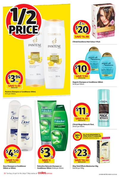 Coles Catalogue 3 - 9 Aug Personal Care