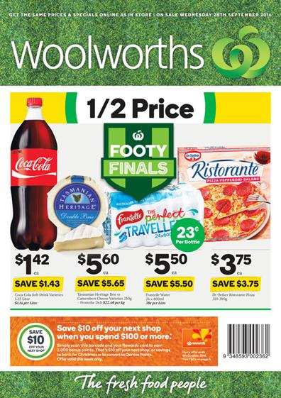 Woolworths Catalogue 28 Sep - 4 Oct 2016