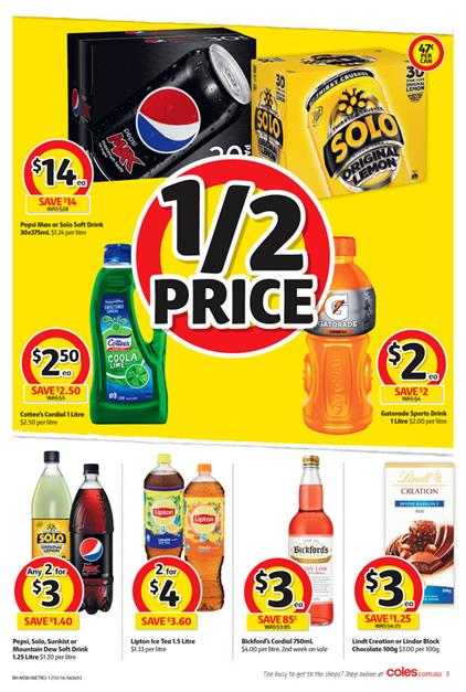Coles Catalogue Half Price Selection 12 - 18 Oct 2016
