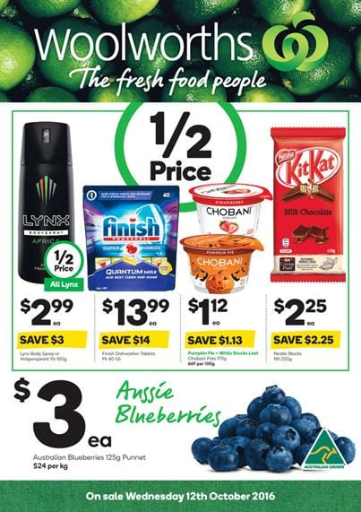 Woolworths Catalogue 12 - 18 Oct 2016