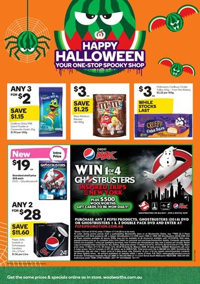 Woolworths Catalogue Halloween 2016