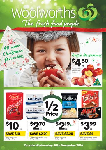 Woolworths Catalogue 30 Nov - 6 Dec 2016 Christmas