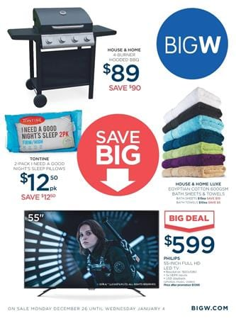 Big W Catalogue Boxing Day 2016