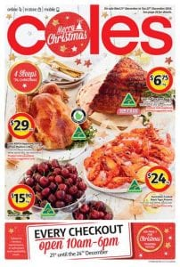 Coles Catalogue Christmas Food 2016