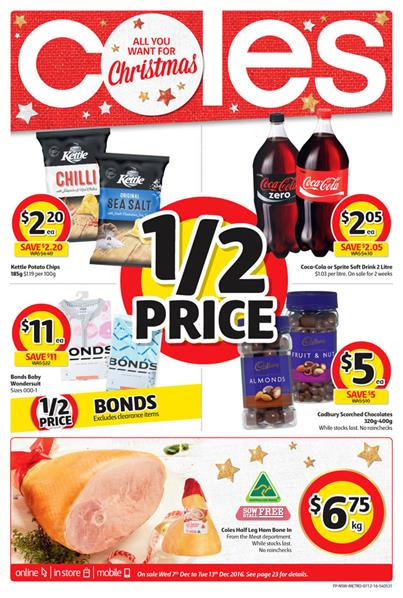 Coles Catalogue Christmas Food 7 - 13 December 2016