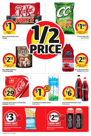Coles Half Price Deals On Snacks 7 - 13 December 2016