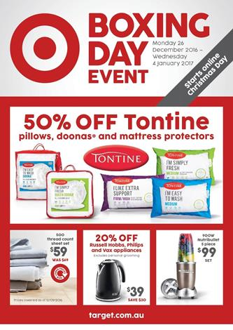 Target Catalogue Boxing Day Event 2016