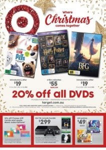 Target Catalogue Christmas Entertainment 8 Dec 2016