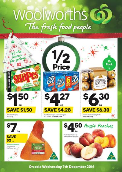 Woolworths Catalogue Christmas Food 7 - 13 December 2016