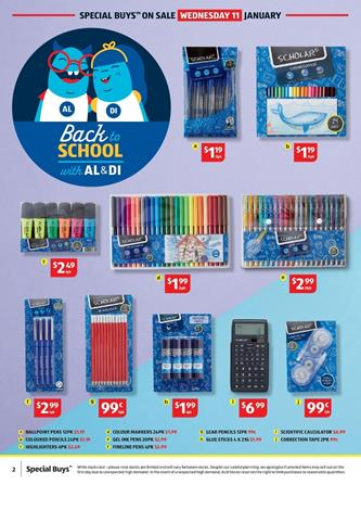 ALDI Catalogue School Supplies 11 Jan 2017