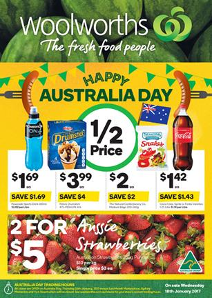 Woolworths Catalogue Australia Day 18 - 24 Jan 2017