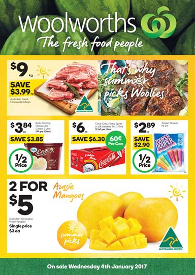 Woolworths Catalogue Summer Deals 4 - 10 January 2017