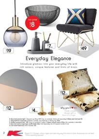 Brass Finish Pendant Light Kmart Catalogue 2 - 22 Feb 2017