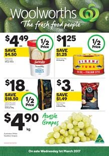 Woolworths Catalogue Deals 1 - 7 March 2017