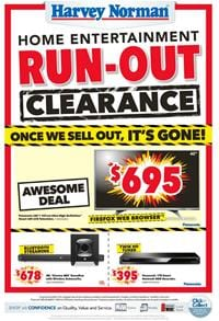 Last 2 Days; Harvey Norman Catalogue Clearance Mar 2017