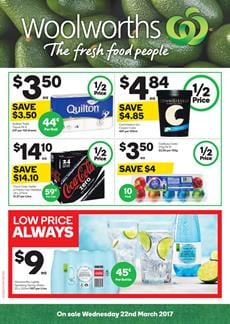Woolworths Catalogue Grocery Deals 22 - 28 March 2017 Easter
