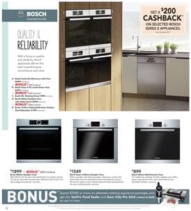 Bosch Steam Oven Harvey Norman Catalogue April 2017