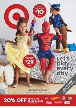 Target Catalogue Holiday Toys 6 - 30 April 2017