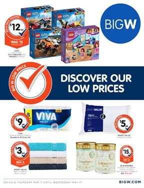 Big W Catalogue Low Prices 11 - 17 May 2017