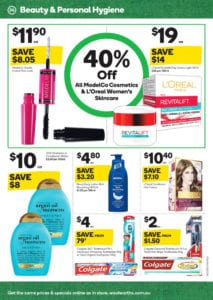 Woolworths Catalogue Personal Care Deals 2 Jun 2017