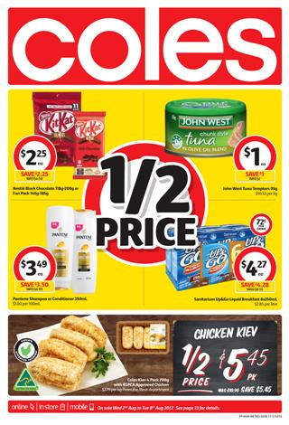 Coles Catalogue Food 2 - 8 August 2017