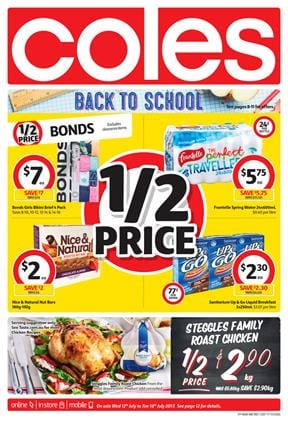 Coles Catalogue Grocery Deals 12 - 18 July 2017