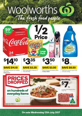 Woolworths Catalogue Grocery Deals 12 - 18 July 2017