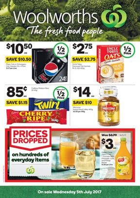 Woolworths Catalogue Grocery Shopping 5 - 11 July 2017