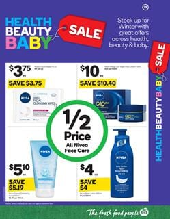 Woolworths Catalogue Health and Beauty Sale 26 July - 1 Aug 2017